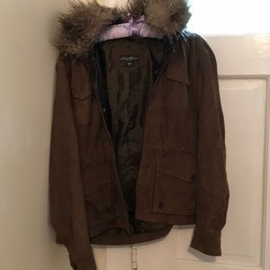 Very nice Eddie Bauer dark olive green jacket